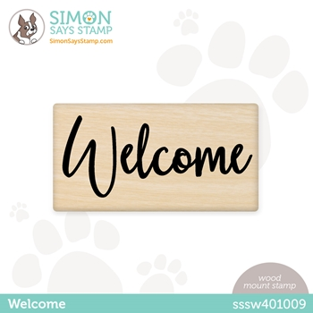 Simon Says Wood Stamp WELCOME sssw401009 Hello Beautiful