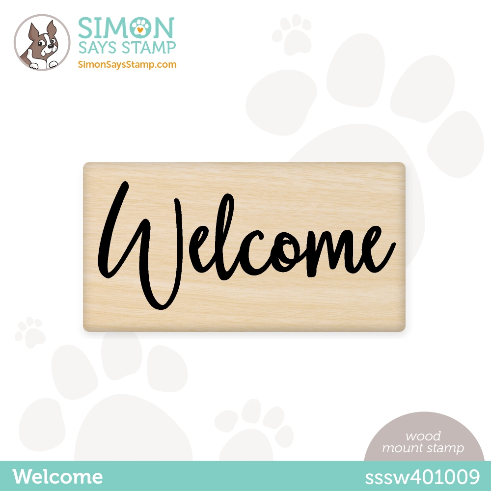 Simon Says Wood Stamp WELCOME sssw401009 Hello Beautiful zoom image