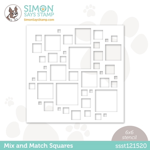Simon Says Stamp Stencil MIX AND MATCH SQUARES ssst121520 Hello Beautiful Preview Image