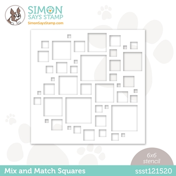 Simon Says Stamp Stencil MIX AND MATCH SQUARES ssst121520 Hello Beautiful