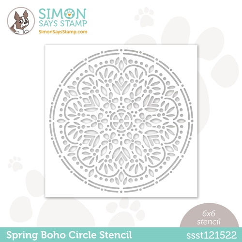 Simon Says Stamp Stencil SPRING BOHO CIRCLE ssst121522 Hello Beautiful Preview Image