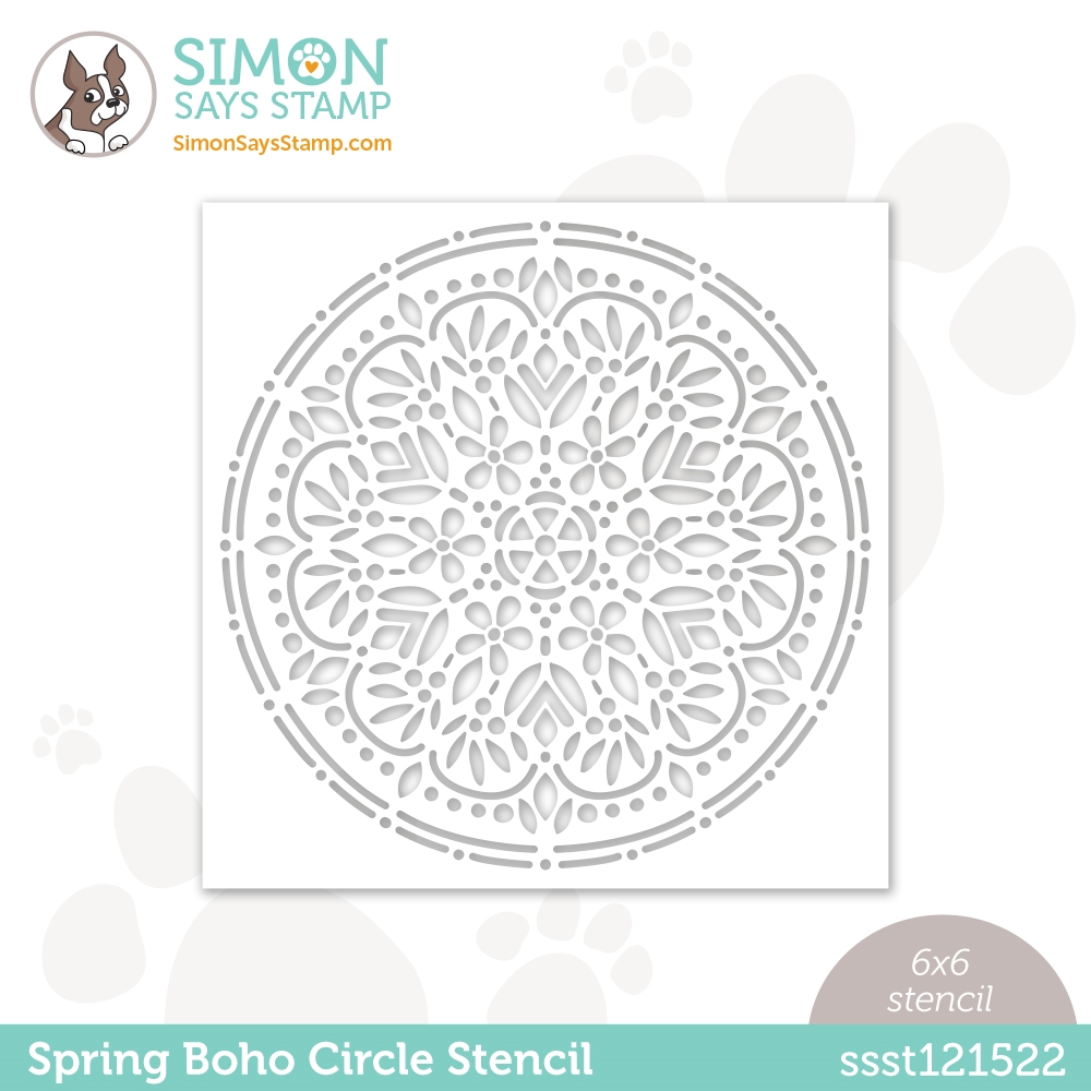 Simon Says Stamp Stencil SPRING BOHO CIRCLE ssst121522 Hello Beautiful zoom image