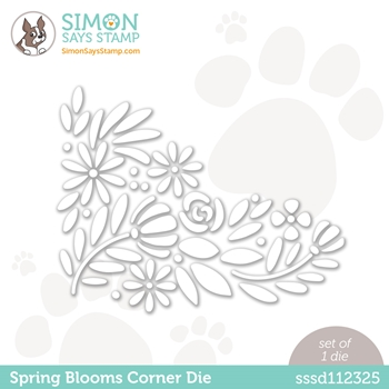 RESERVE Simon Says Stamp SPRING BLOOMS CORNER Wafer Die  sssd112325 Hello Beautiful