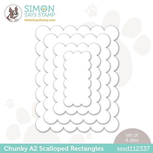 Simon Says Stamp CHUNKY A2 SCALLOPED RECTANGLES Wafer Dies  sssd112337 Hello Beautiful Preview Image