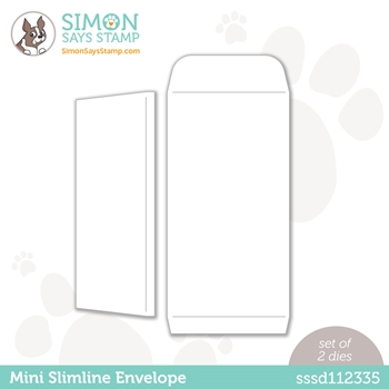 Simon Says Stamp MINI SLIMLINE ENVELOPE Wafer Dies sssd112336 Hello Beautiful