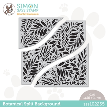 Simon Says Cling Stamp BOTANICAL SPLIT BACKGROUND sss102255 Hello Beautiful