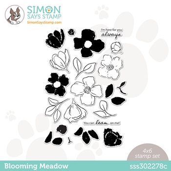 Simon Says Clear Stamps BLOOMING MEADOW sss302278c Hello Beautiful