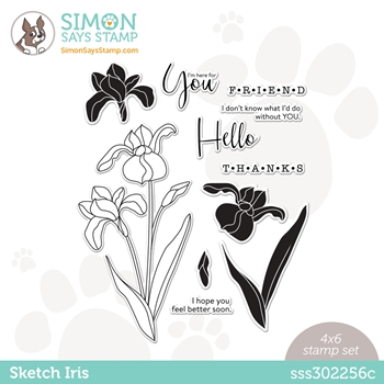 Simon Says Clear Stamps SKETCH IRIS sss302256c Hello Beautiful