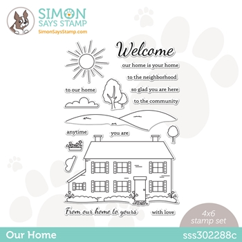 Simon Says Clear Stamps OUR HOME sss302288c Hello Beautiful
