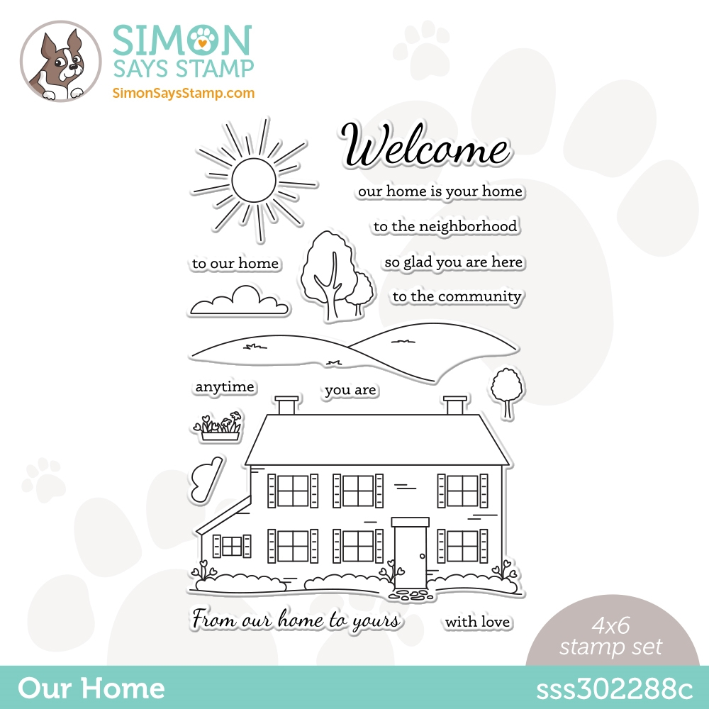 Simon Says Clear Stamps OUR HOME sss302288c Hello Beautiful zoom image