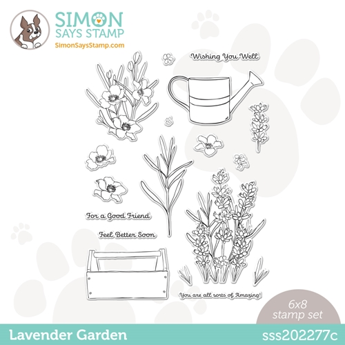 Simon Says Clear Stamps LAVENDER GARDEN sss202277c Hello Beautiful Preview Image