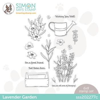 Simon Says Clear Stamps LAVENDER GARDEN sss202277c Hello Beautiful