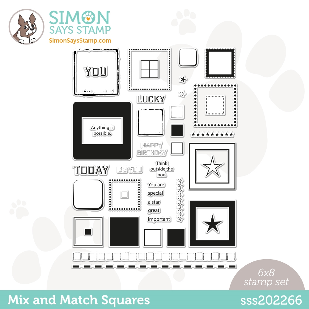 Simon Says Clear Stamps MIX AND MATCH SQUARES sss202266 Hello Beautiful zoom image