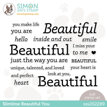 Simon Says Clear Stamps SLIMLINE BEAUTIFUL YOU sss202289 Hello Beautiful