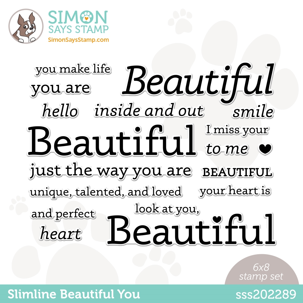 Simon Says Clear Stamps SLIMLINE BEAUTIFUL YOU sss202289 Hello Beautiful zoom image