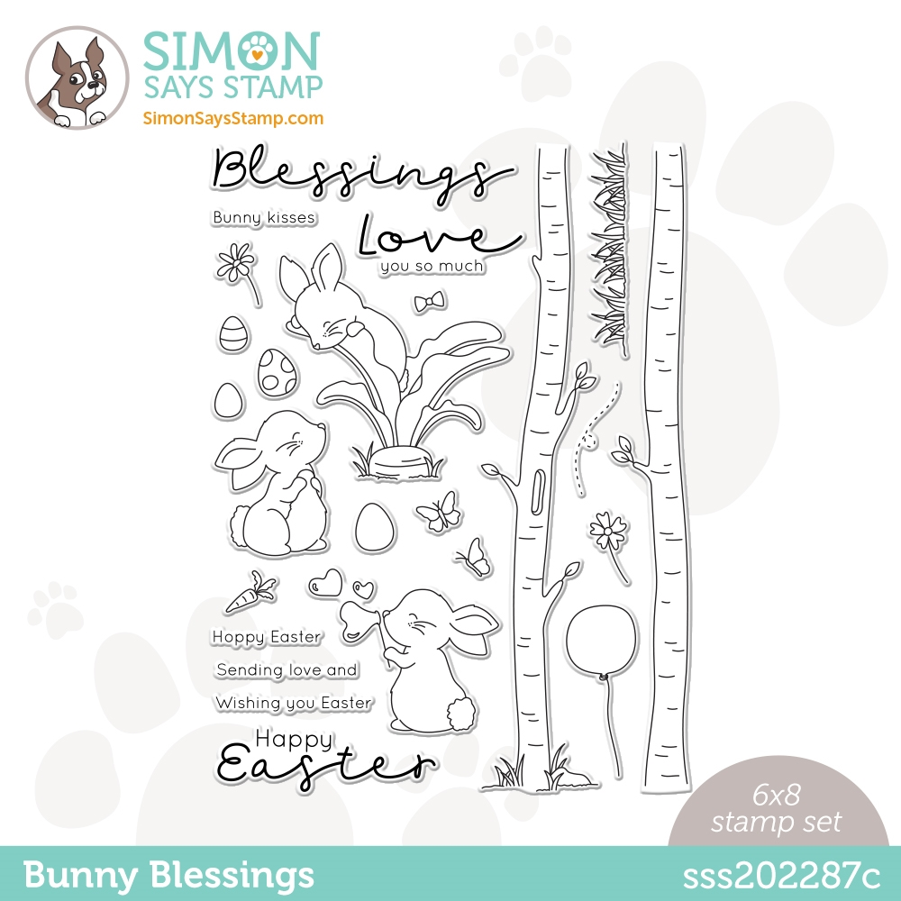 Simon Says Clear Stamps BUNNY BLESSINGS sss202287c Hello Beautiful zoom image