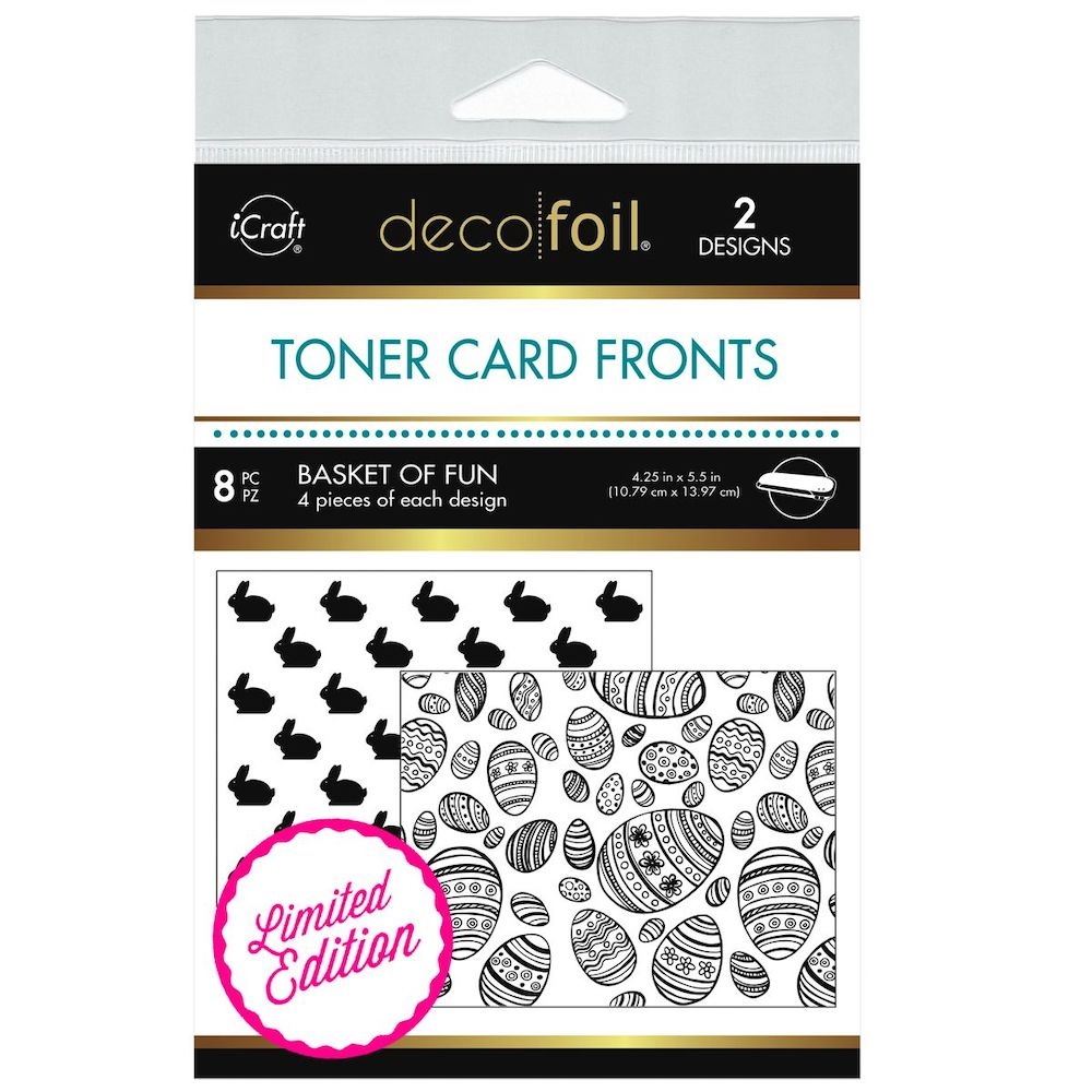 Therm O Web LIMITED EDITION Deco Foil BASKET OF FUN White Toner Card Fronts 5598 zoom image