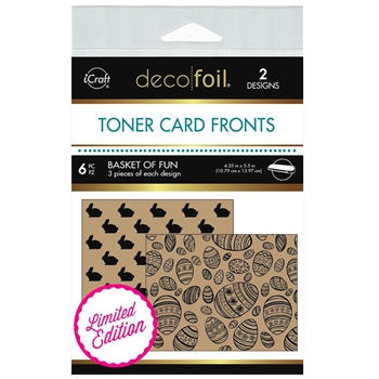 Therm O Web LIMITED EDITION Deco Foil BASKET OF FUN Kraft Toner Card Fronts 5599