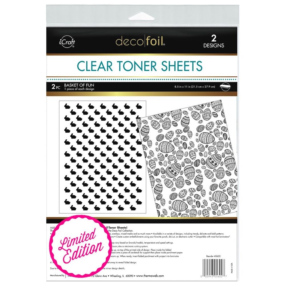 Therm O Web LIMITED EDITION Deco Foil BASKET OF FUN Clear Toner Sheets 5602 zoom image