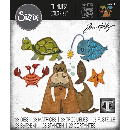 Tim Holtz Sizzix UNDER THE SEA 2 Colorize Thinlits Dies 665378 Preview Image