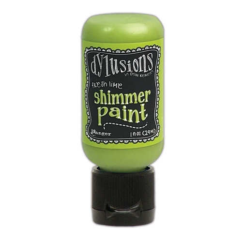 Ranger Dylusions 1oz FRESH LIME Shimmer Paint dyu74410 Preview Image