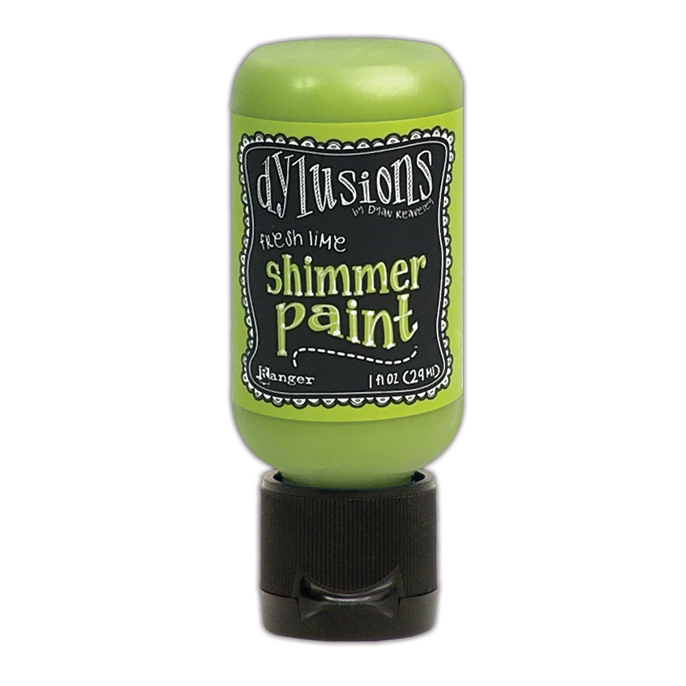 Ranger Dylusions 1oz FRESH LIME Shimmer Paint dyu74410 zoom image
