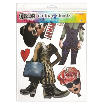 Ranger Dylusions 8.5 x 11 Collage Sheets SET 3 dya76360
