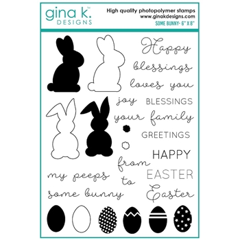 Gina K Designs SOME BUNNY Clear Stamps 7566 **