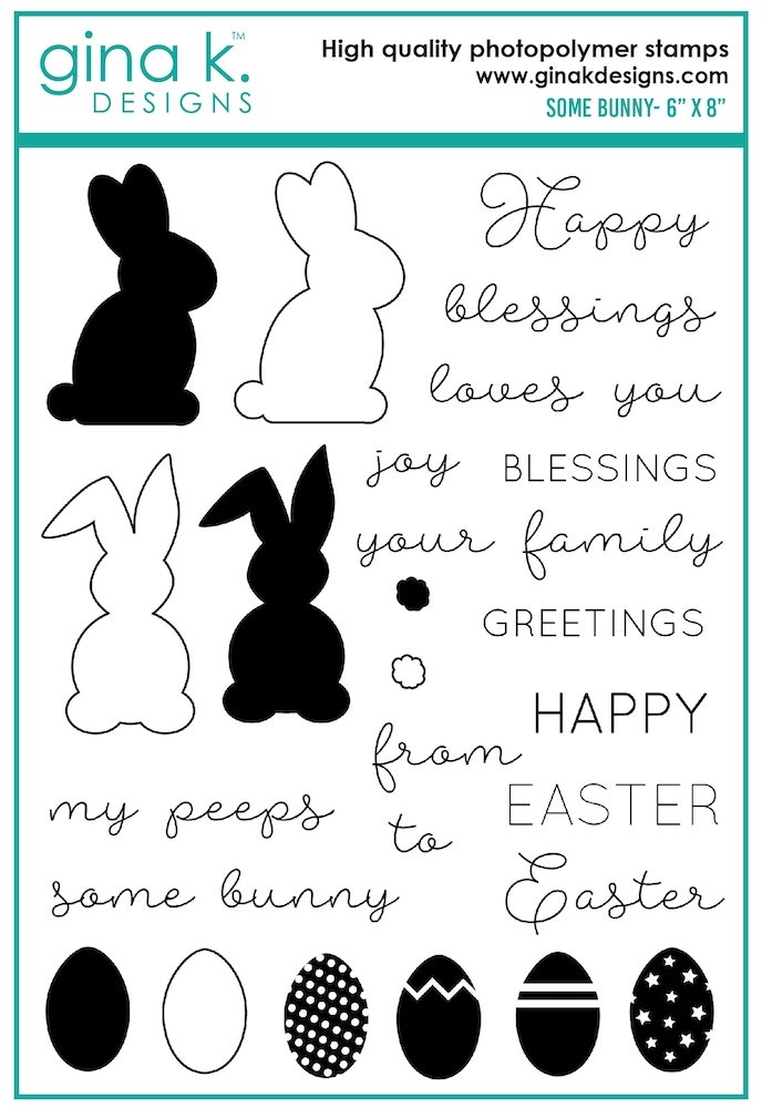 Gina K Designs SOME BUNNY Clear Stamps 7566 zoom image