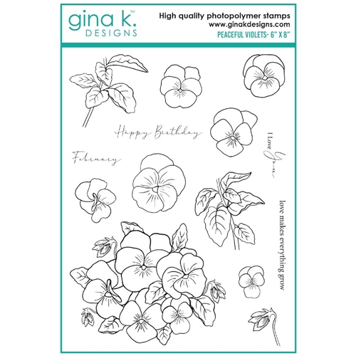 Gina K Designs PEACEFUL VIOLETS Clear Stamps 7542 Preview Image