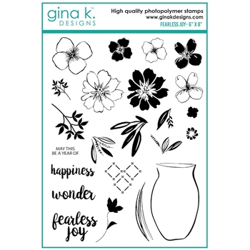 Gina K Designs FEARLESS JOY Clear Stamps 7511