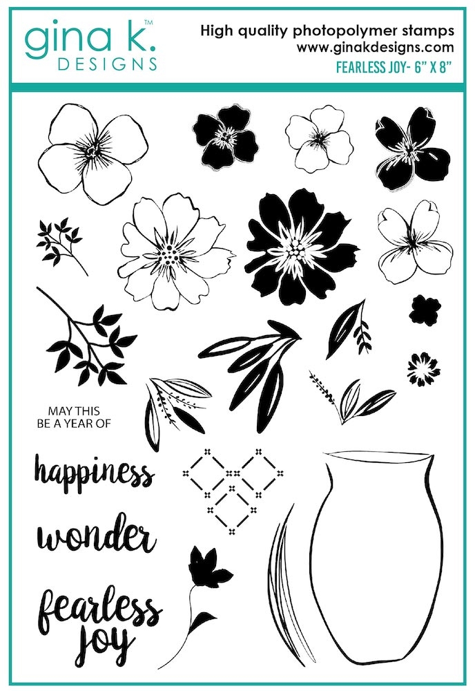 Gina K Designs FEARLESS JOY Clear Stamps 7511 zoom image