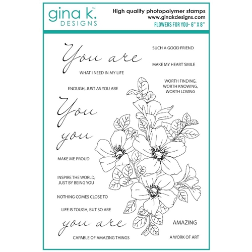 Gina K Designs FLOWERS FOR YOU Clear Stamps 7535 Preview Image