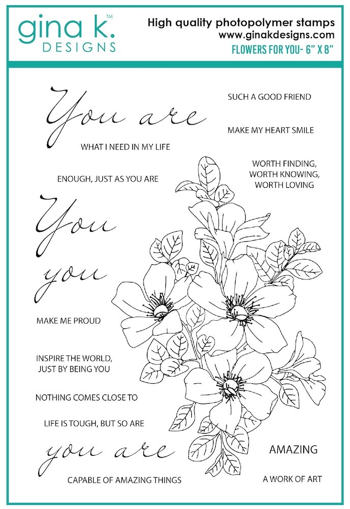 Gina K Designs FLOWERS FOR YOU Clear Stamps 7535 zoom image