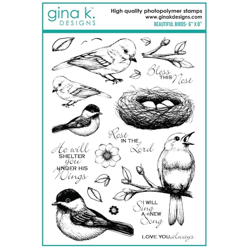 Gina K Designs BEAUTIFUL BIRDS Clear Stamps 7498 Preview Image