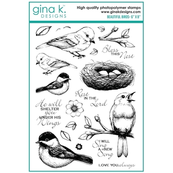 Gina K Designs BEAUTIFUL BIRDS Clear Stamps 7498