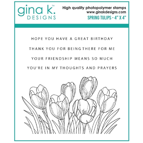 Gina K Designs SPRING TULIPS Clear Stamps 7481 Preview Image
