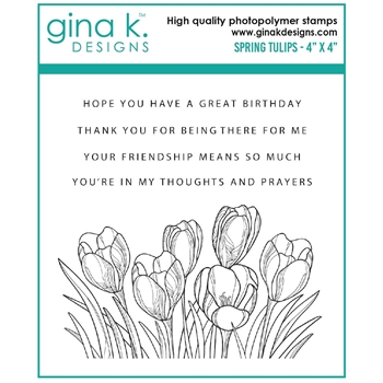 Gina K Designs SPRING TULIPS Clear Stamps 7481
