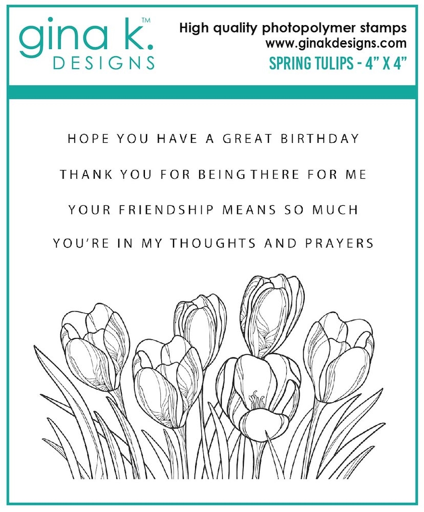 Gina K Designs SPRING TULIPS Clear Stamps 7481 zoom image