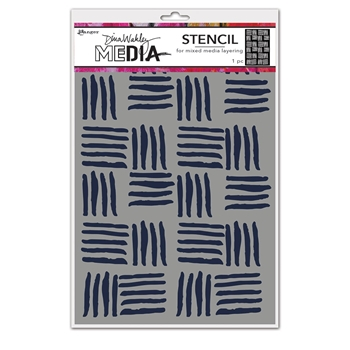 Dina Wakley CROSS HATCH Media Stencil Ranger mds74854