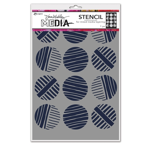 Dina Wakley LINED CIRCLES Media Stencil Ranger mds74878 Preview Image