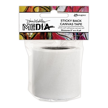 Dina Wakley Media STICKYBACK CANVAS TAPE Ranger mda76445