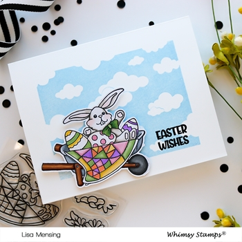 Whimsy Stamps FILL A WHEEL BARREL BARB Clear Stamps BS1024
