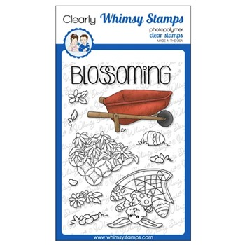 Whimsy Stamps FILL A WHEEL BARREL BARB Clear Stamps BS1024*