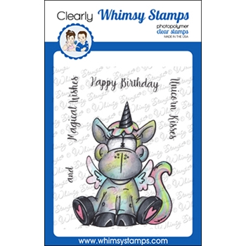 Whimsy Stamps UNICORN WISHES Clear Stamps DP1062