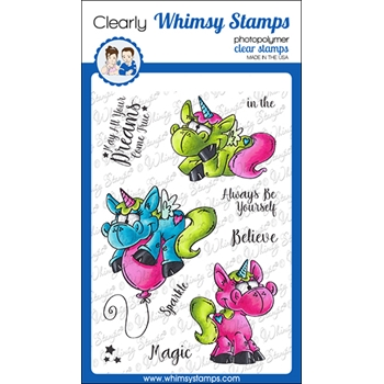 Whimsy Stamps UNICORN MAGIC Clear Stamps DP1061