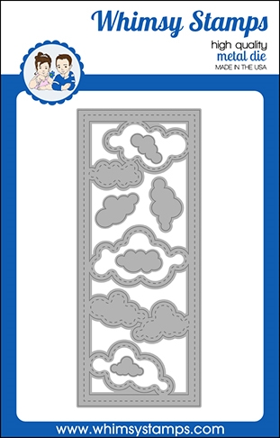 Whimsy Stamps SLIMLINE CLOUDS Dies WSD523 Preview Image