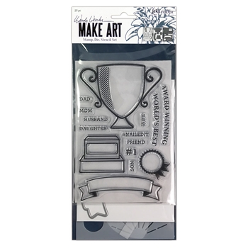 Ranger Wendy Vecchi AWARD WINNING Make Art Stamp Die And Stencil Set wvz75158