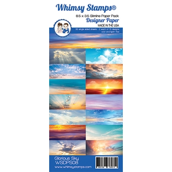 Whimsy Stamps SLIMLINE GLORIOUS SKY 8.5 x 3.5 WSDPS08