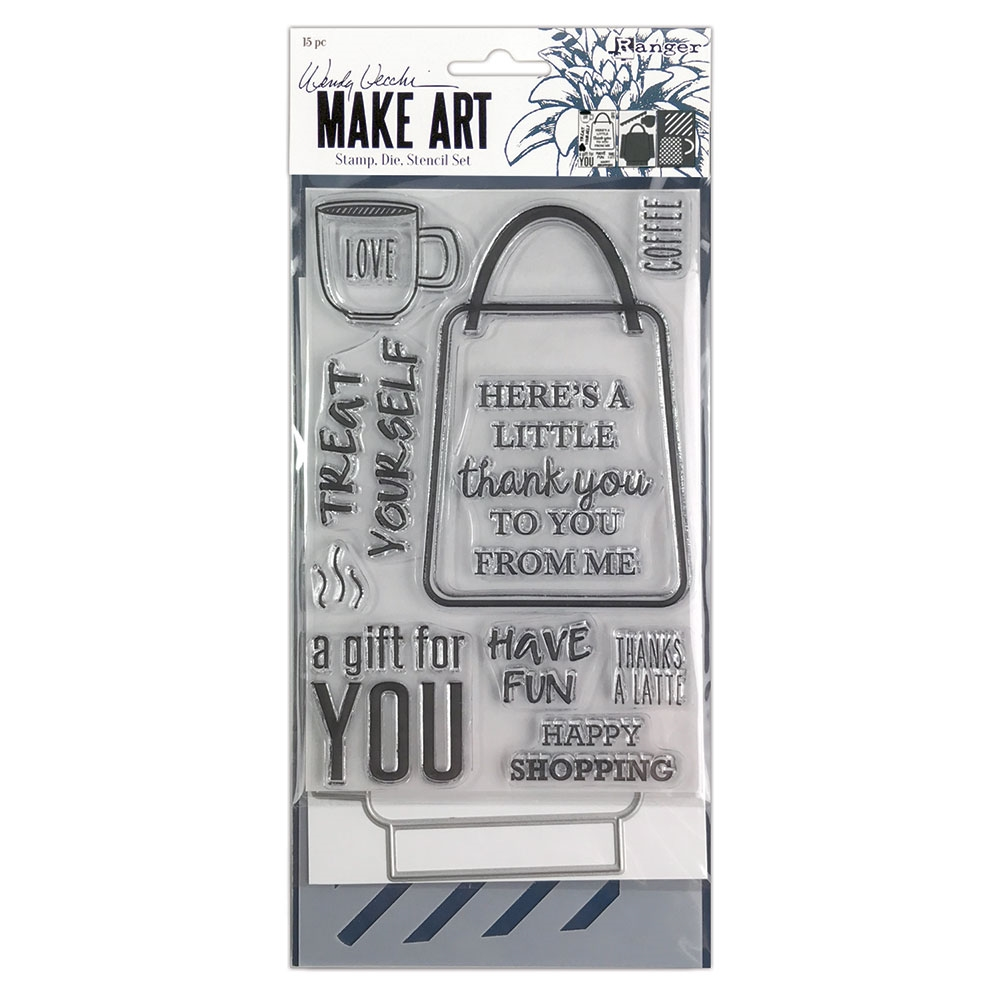 Ranger Wendy Vecchi LET'S SHOP Make Art Stamp Die And Stencil Set wvz75165 zoom image